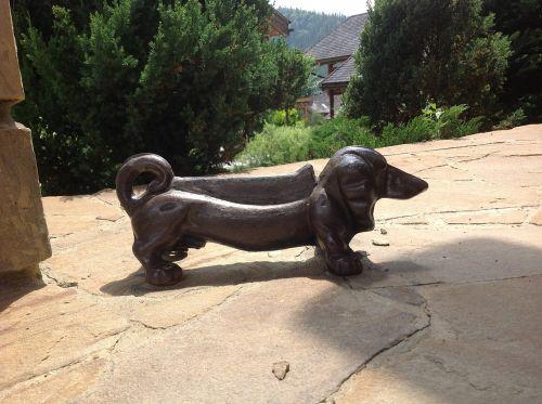šuo,statulėlė,ketaus