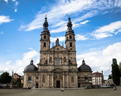 Dom,Fulda,krikščionis,istoriškai,krikščionybė,religija,garbinimo namai,barokas,architektūra,pastatas,Vokietija,bažnyčia,maldos namai,Europa
