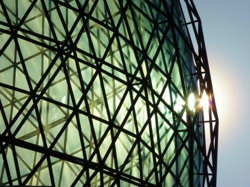 kupolas,stiklas,stiklo kupolas,pastatas,dalí,figueras,Ispanija,muziejus