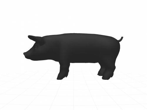 siluetas, vidaus, kiaulė, kontūrai, gyvūnas, izoliuotas, balta, fonas, figūra, vidaus kiaulė