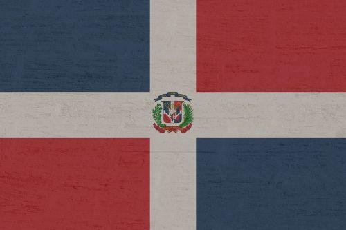 Dominikos respublika,vėliava,Dominikonų respublika,mėlynas,raudona