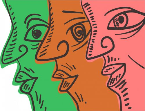 Iliustracijos, iliustracija, grafika, clip & nbsp, menas, žmonės, veidai, portretas, doodle, įvairovė, rodyklės veidai