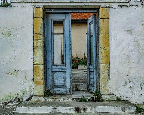 durų, namas, architektūra, įėjimas, vartai, eksterjero, kiemas, duris, fasadas, skilimas, amžiaus, atlaikė, pentakomo, Kipras