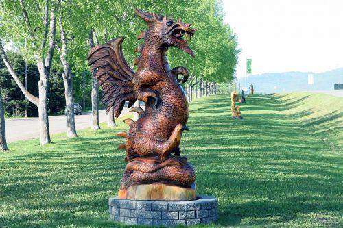 drakonas,menas,kinų drakonas,apdaila,mediena,statula