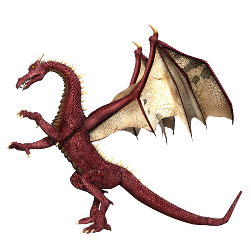 drakonas,sparnai,stovintis,fantazija,pasaka,3d,raudona,legenda,pasaka,png