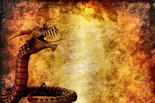 drakonas, gyvatė, fonas, menas, fantazija, Vintage, meninis, dizainas, Aquarelle, skaitmeninis menas, skaitmeninis dažai, piešimo, 3d, padaras, Legenda, Scrapbooking, Nemokama iliustracijos