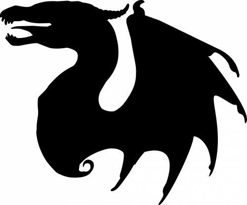 drakonas, drakonas & nbsp, vektorius, drakonas & nbsp, siluetas, gyvūnas, fantazija, drake, sparnai, tamsi, piešimas, žvėrys, juoda, vaizduotė, vektorius, drakonas silueto piešinys