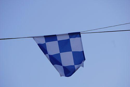 vėliava, patikrinta & nbsp, vėliava, dangus, vėjas, miestas, miesto, mėlynas, keteros vėliava