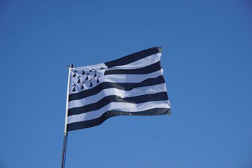 vėliava, Brittany, breton & nbsp, vėliava, dangus, vėjas, Gwen-ha-du, Britanijos vėliava