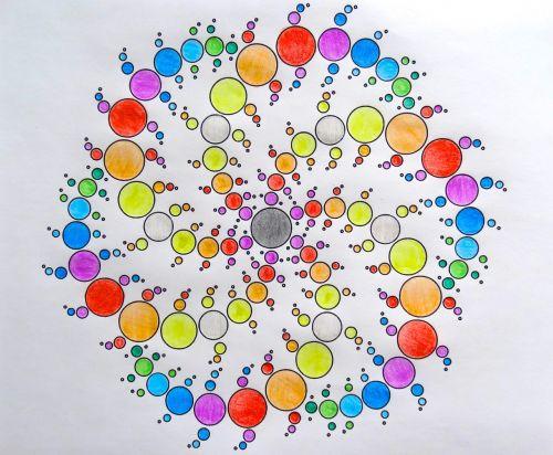 piešimas,spiralė,spalva,dažyti,spalvinga