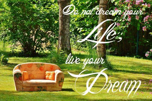 svajonė, gyventi, gyvenimo svajonė, įvykdymas, drąsos