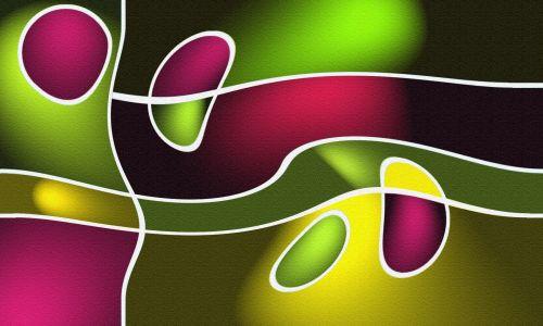 svajones, minkštas, spalvos, menas, siena, dizainas, violetinė, žalias, geltona, svajonės išsipildė