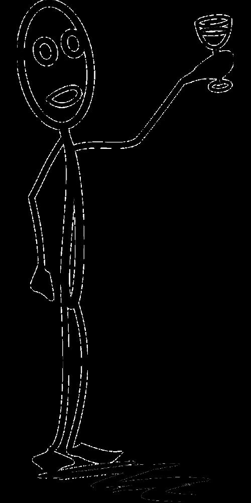 gerti,skrudinta duona,sveikinimai,stiklas,vyras,Stick-man,matchstick žmogus,Stick figūra,Stickman,nemokama vektorinė grafika