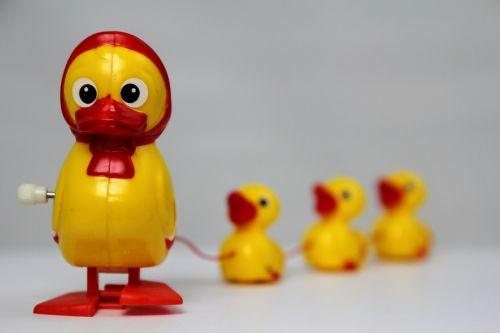 Antis, Žaislai, Laimingas Antis, Geltona Antis, Antis Vaikai