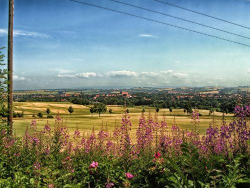 duderstadt,Vokietija,kraštovaizdis,vaizdingas,gėlės,laukai,vista,dangus,debesys,gamta,lauke,Šalis,kaimas,vasara,pavasaris,hdr