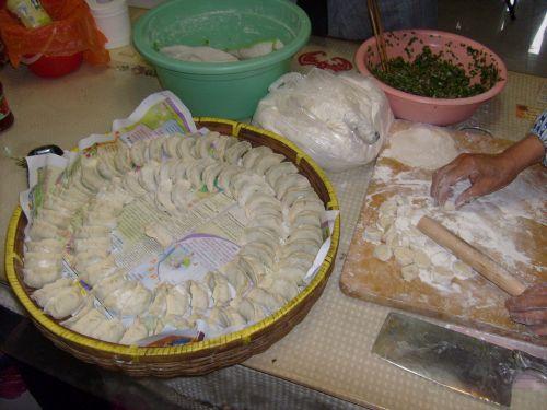 Moliūgas, kinai, Jiaozi, rengia, tešla, miltai, maistas, kumpio paruošimas