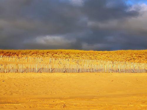 kopos,papludimys,smėlis,Atlanto pakrantė,po lietaus,po griaustinio