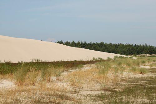 kopos,mobili kopija,Krantas,Baltijos jūra,Lenkija,judančios kopos,papludimys,smėlio kopos,smėlis