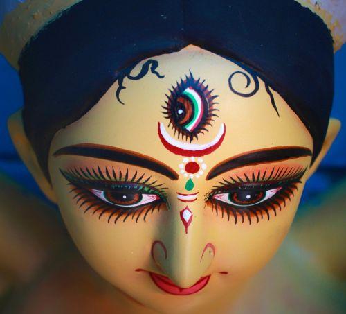 durga puja,Kolkata,Indija,Calcutta,idolių garbinimas,religinis,šventinis,gera energija,veidas,moteris,portretas,žmonės,menas