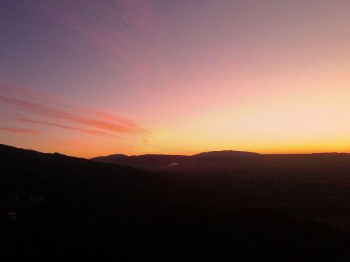 dusk,rausvai,oranžinė,dangus,saulėlydis