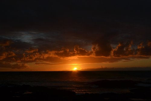 prieblanda, naktis, dangus, kraštovaizdis, naktį, mėnulis, naktinis matymas, jūra, Tenerifė, Kanarų salos, naktinis kraštovaizdis, naktinis dangus, pobūdį, Sky Moon
