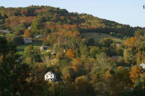 kalnas, Hillside, ruduo, kritimas, ūkis, žemės ūkio paskirties žemė, Vermont, nauja & nbsp, Anglija, kaimas, ankstyvo rudens žemės ūkio paskirties žemė