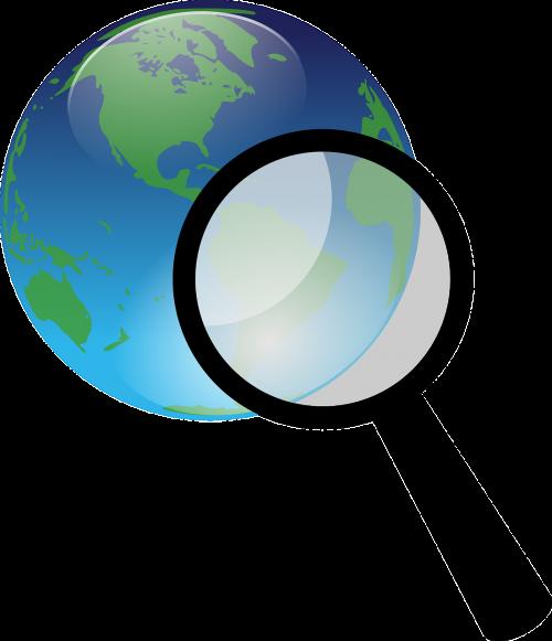 žemė,gaublys,didina,mėlynas,stiklas,žalias,priartinti,nemokama vektorinė grafika