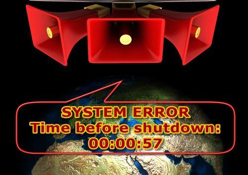 žemė,garsiakalbiai,sistema,sistemos klaida,klaida,klaidinga,patzer,schnitzer,faux pas,klaida,problema,avarija,įspėjimas,balionas,pranešimas,atgalinis laikas,apokalipsė,dievas