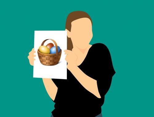 Velykos, kiaušinis, Velykų kiaušiniai, spalvingi kiaušiniai, dažyti lengvi kiaušiniai, spalvinga, vištienos kiaušiniai, spalva, natūralus produktas, maistas, Velykų lizdas, žinoma, Velykų dekoracijos, linksmų Velykų, moteris, popierius, kortelė, be honoraro mokesčio