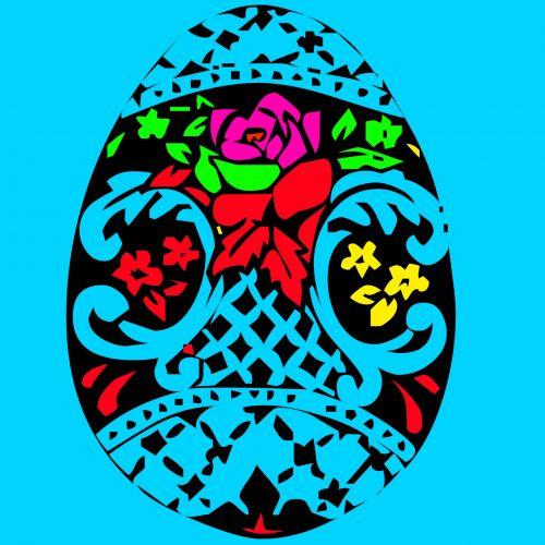 Velykos, šventė, animacinis filmas, tradicija, krikščionis, religija, tatuiruotė, mėlynas, fonas, Velykinis kiaušinis