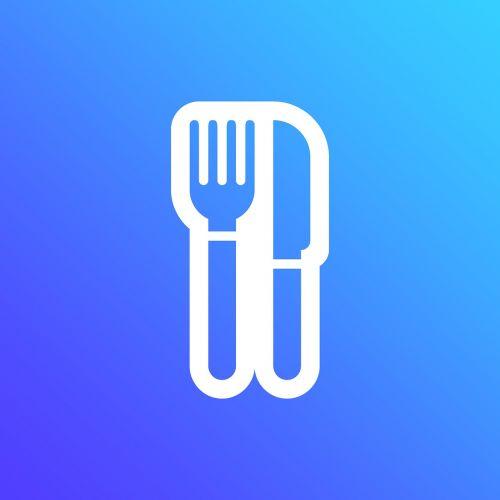 valgyti,šakutės šaukštas,mėlynas