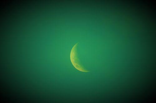 dangus, žalias, baisus, mėnulis, pusė, tamsintas, baisus žalias mėnulis