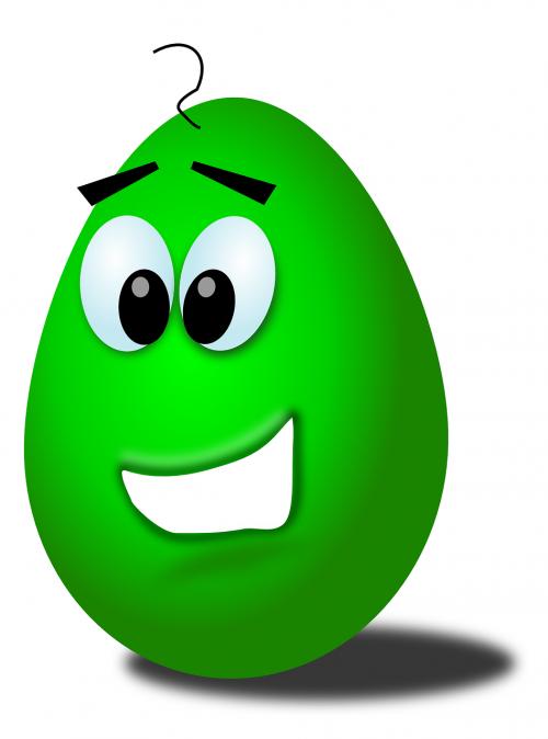 kiaušinis,kiaušinio veidas,Besišypsantis veidas,juokingas veidas,žalias kiaušinis,laimingas veidas,nemokama vektorinė grafika
