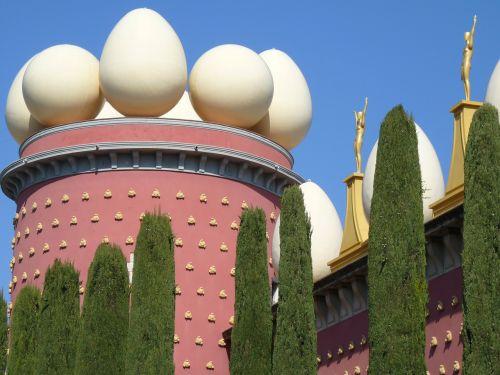 kiaušinis,muziejus,dalí,figueras,Ispanija,pastatas