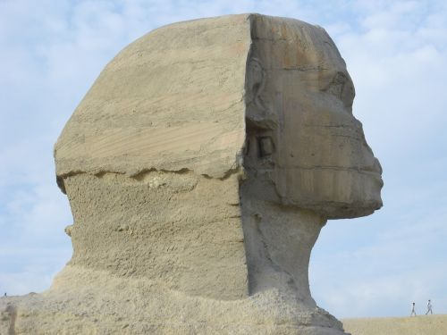 Sfinksas,Egiptas,Kairas,senas,giza,akmenine galva,Hyman galva,kalkakmenio statula,liūto kūnas,žmogaus galva
