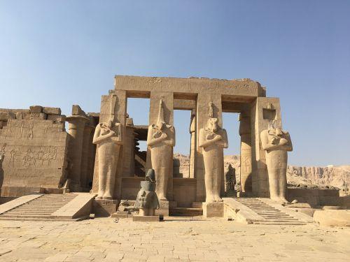 Egiptas,pharaonic,statulos,šventykla