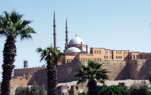Egiptas, Kairas, Citadel, Saladinas, tvirtovė, architektūra, kelionė, minaretas, medis, religija