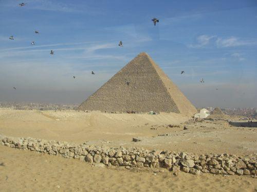 Piramidė,  Dykuma,  Giza,  Egiptas,  Egiptas - Piramidė