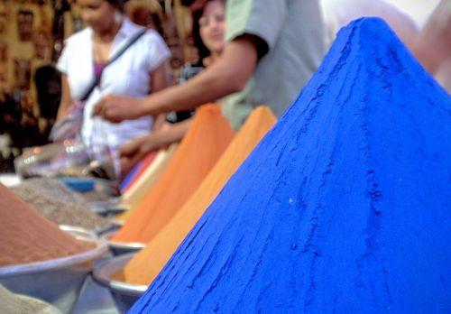 Egipto prieskoniai,mėlynas,Egiptas,Aswan,Nubijos kaimas,nubian,Artimieji Rytai,turgus,egzotiškas