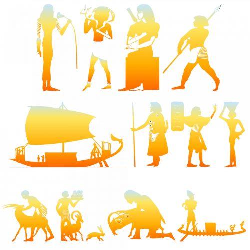 Egiptas,  Egyptian,  Simboliai,  Ženklai,  Oranžinė,  Liepsna,  Gradientas,  Senovės,  Dievas,  Ra,  Egipto Simboliai