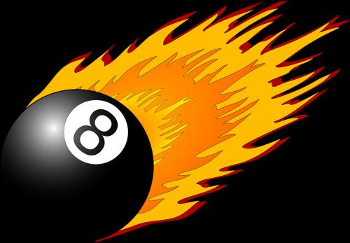 aštuoni,rutulys,liepsnos,juoda,8,biliardas,baseinas,Ugnis,oranžinė,numeris,magija,nemokama vektorinė grafika
