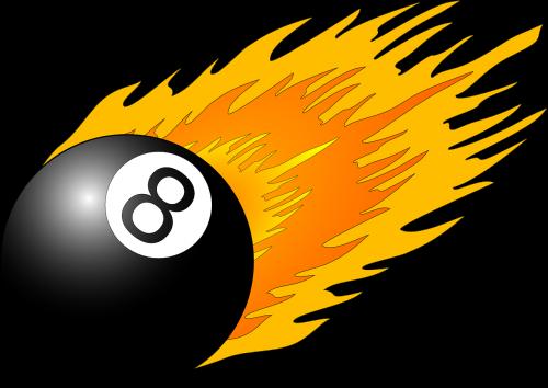 aštuoni,rutulys,liepsna,baseinas,snooker,juoda,oranžinė,numeris,Ugnis,8,biliardas,nemokama vektorinė grafika