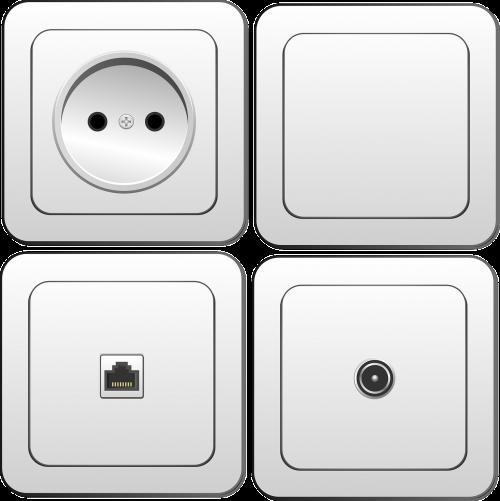 elektronika,jungiklis,kištuko lizdas,lizdas,kištukas,galia,elektra,internetas,televizija,elektros lizdas,talpykla,lizdas,Domkratas,elektros rozetė,elektros lizdas,parduotuvė,elektros lizdas,galios taškas,lizdas,bakstelėjimas,rozetė,sieninis lizdas,balta,nemokama vektorinė grafika
