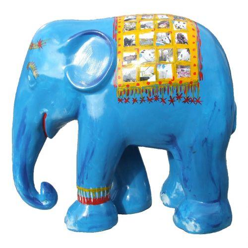 dramblio paradas,mėlynas dramblys,trier