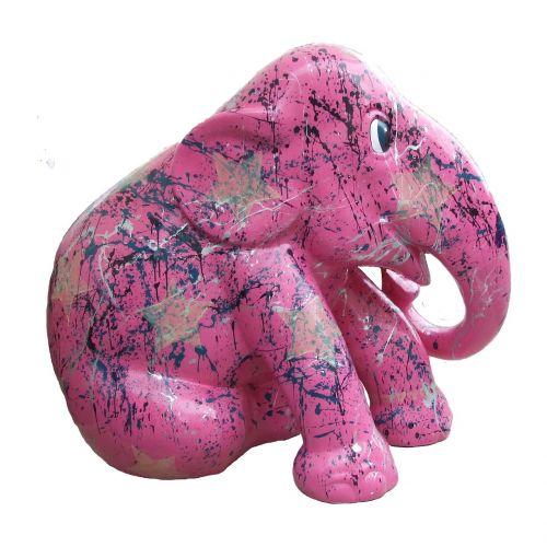 dramblio paradas,rožinė dramblys,menas
