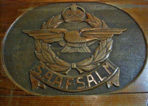 ženklelis, emblema, oras & nbsp, jėga, kist, mediena, karinio oro pajėgų emblema