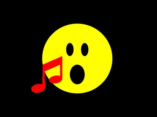 emoji,dainuoti,dainuoti,piktograma,šypsenėlė,pastaba,muzikinis,animacinis filmas,išraiška,whatsapp,geltona