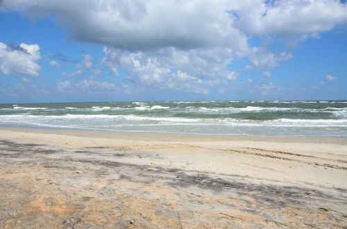 tuščias & nbsp, paplūdimys, niekas, papludimys, smėlis, bangos, naršyti, jūros dugnas, vanduo, vandenynas, jūra, st & nbsp, augustine, florida, tuščias paplūdimys