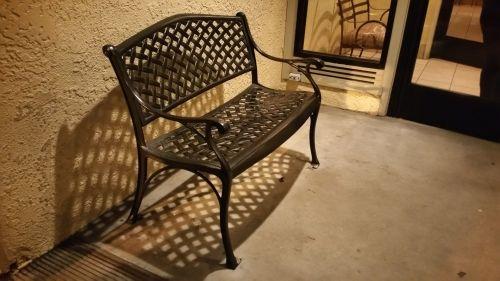 stendas, šiltas, šviesa, tuščia, sėdynė, poilsis, juoda, tuščias stendas