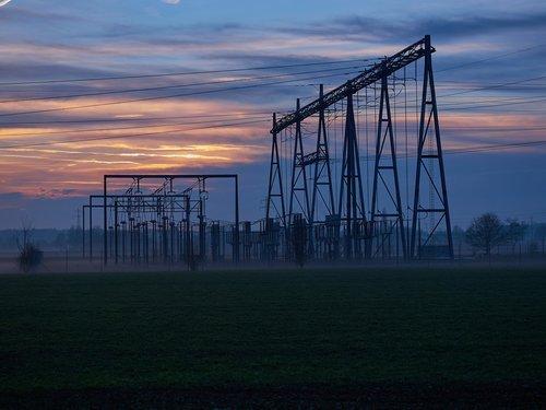 energijos, kraštovaizdžio galia, dangus, elektros energijos gamybos, nuotaika, technologijos, energijos revoliucija